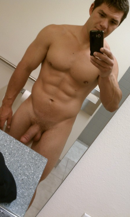 Nude Muscle Boy With Fat Cock