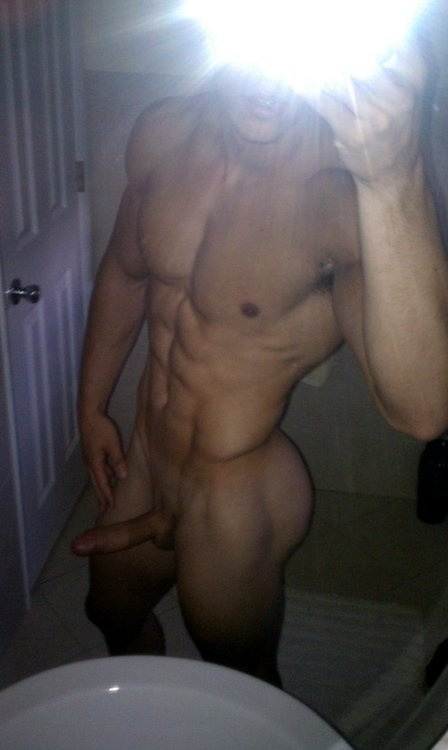 Muscle Boy With A Perfect Body And Cock